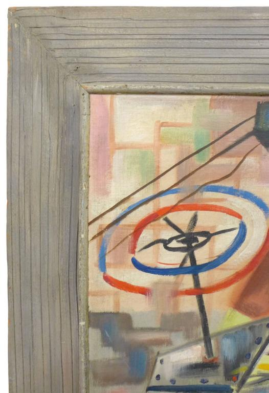 Mid-Century Modern 1940s Abstract Painting by Art Miller For Sale