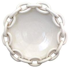 Italian Ceramic Chain Bowl by ND Dolfi for Bergdorf Goodman