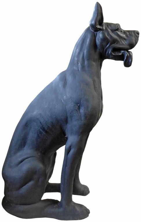 American Lifesize Cast Concrete Great Dane For
