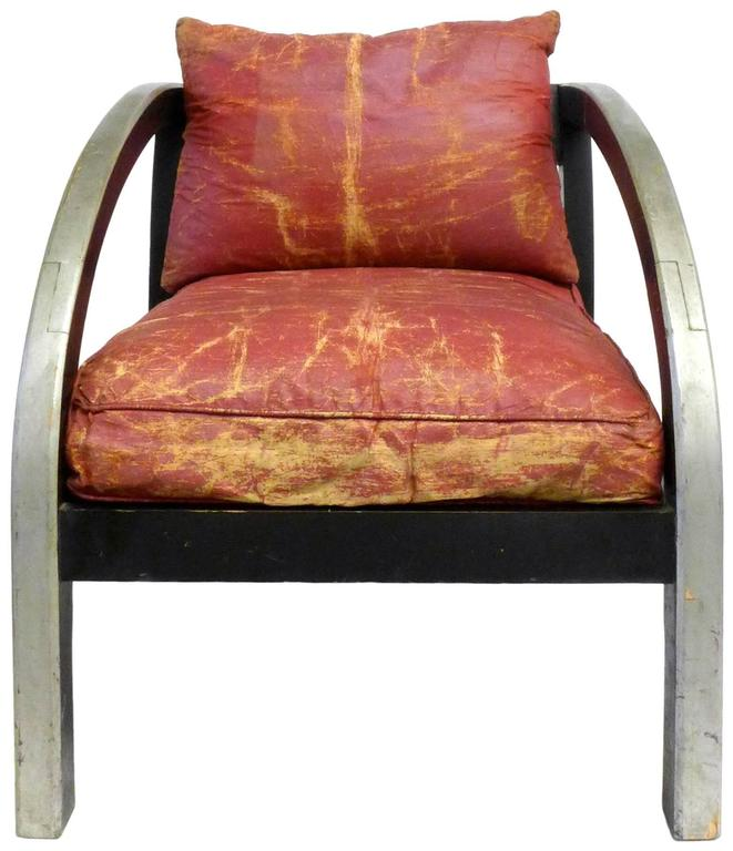 """An iconic design made by Modernage circa 1928-32. This chair was made in the style of the renowned American Machine Age designer Paul Frank's """"D Chair"""", which embodies the spirit of American streamlined moderne and remains a timeless and"""