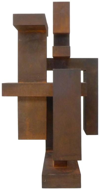 Geometric Abstract Steel Sculpture 3