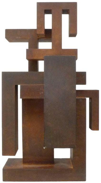 Geometric Abstract Steel Sculpture 4