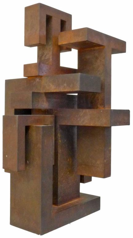 Geometric Abstract Steel Sculpture 2