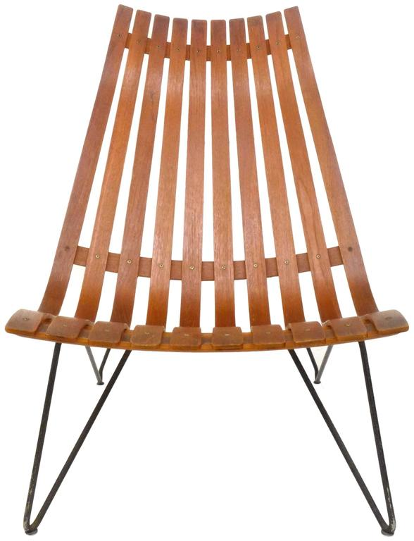 Mid-Century Modern Scania Senior Lounge Chair by Hans Brattrud for Hove Möbler For Sale
