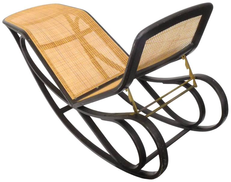 Mid-Century Modern Rocking Chaise Lounge by Edward Wormley for Dunbar For Sale