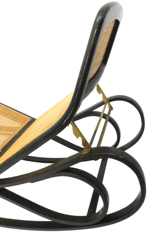 American Rocking Chaise Lounge by Edward Wormley for Dunbar For Sale