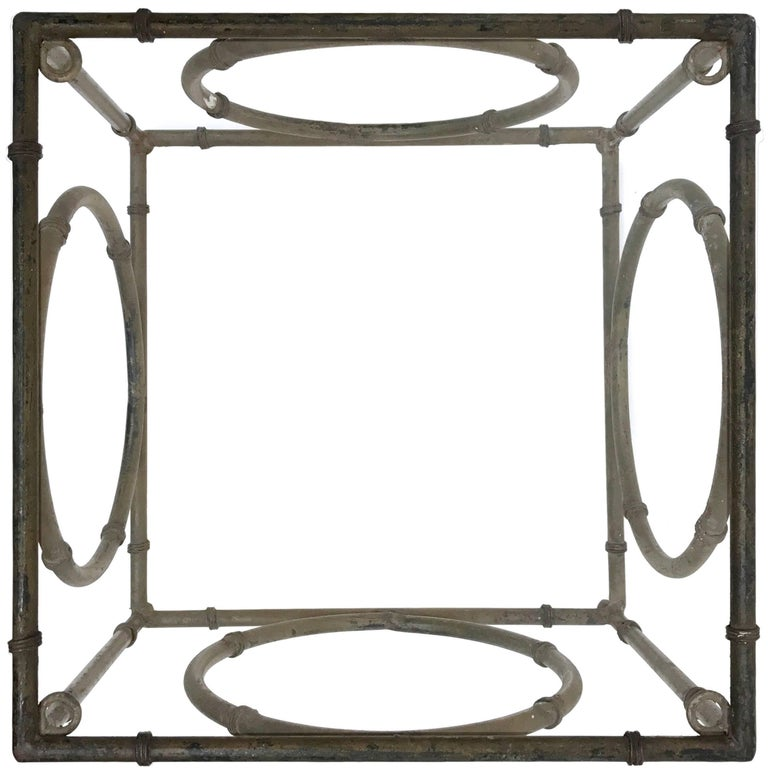 Pair of Italian Wrought Iron and Glass Side Tables For Sale 2