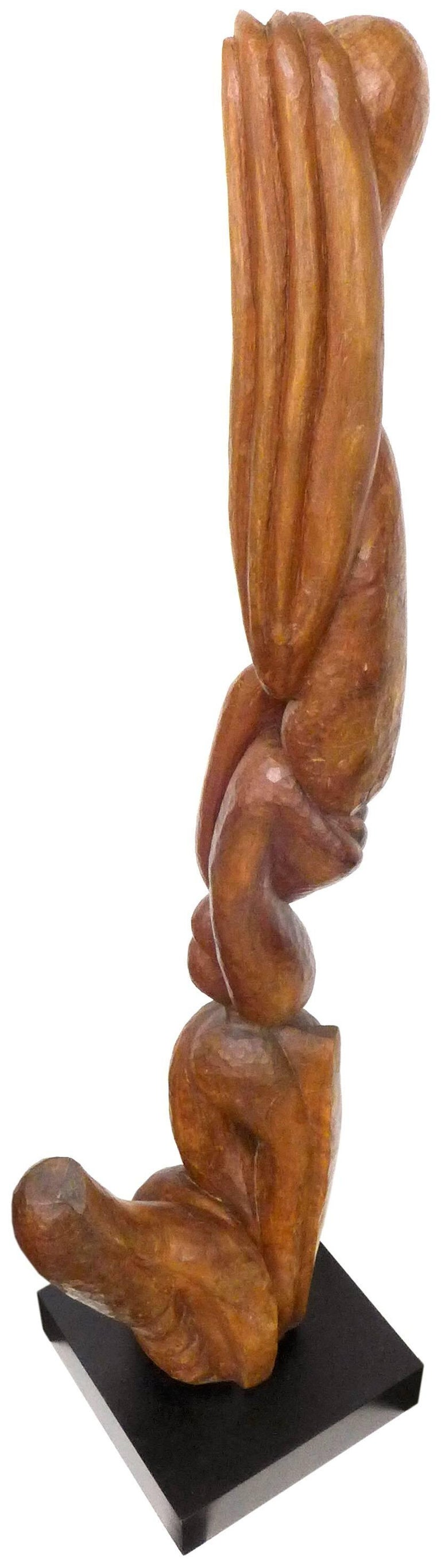 Biomorphic Carved-Wood Sculpture 2