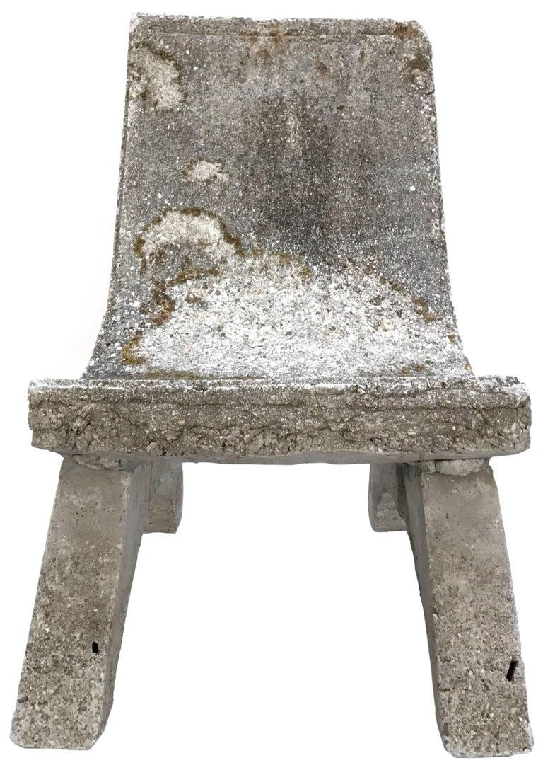 Cast Concrete Garden Chair 3