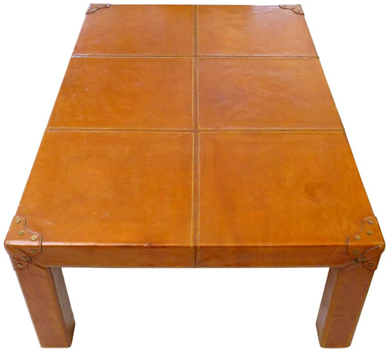 Stitched-Leather Clad Coffee Table 3