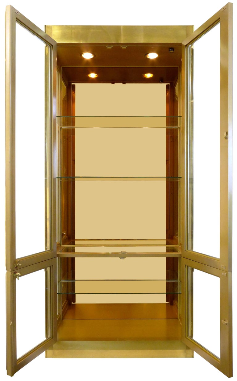 Brass-Clad Vitrine by Mastercraft 2