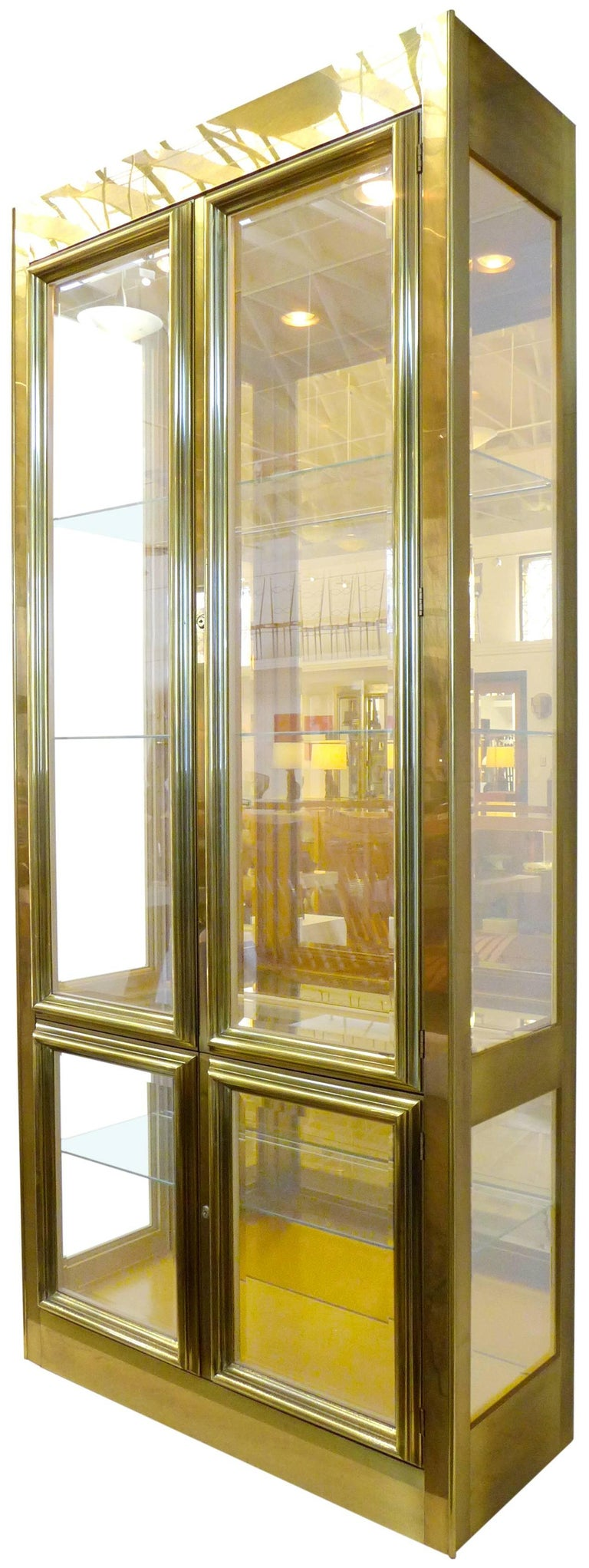 Brass-Clad Vitrine by Mastercraft 3