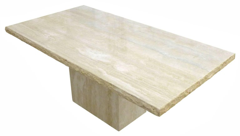 Massive Travertine Dining Table 2