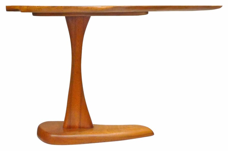 Slender Organic Wood Side Table 3