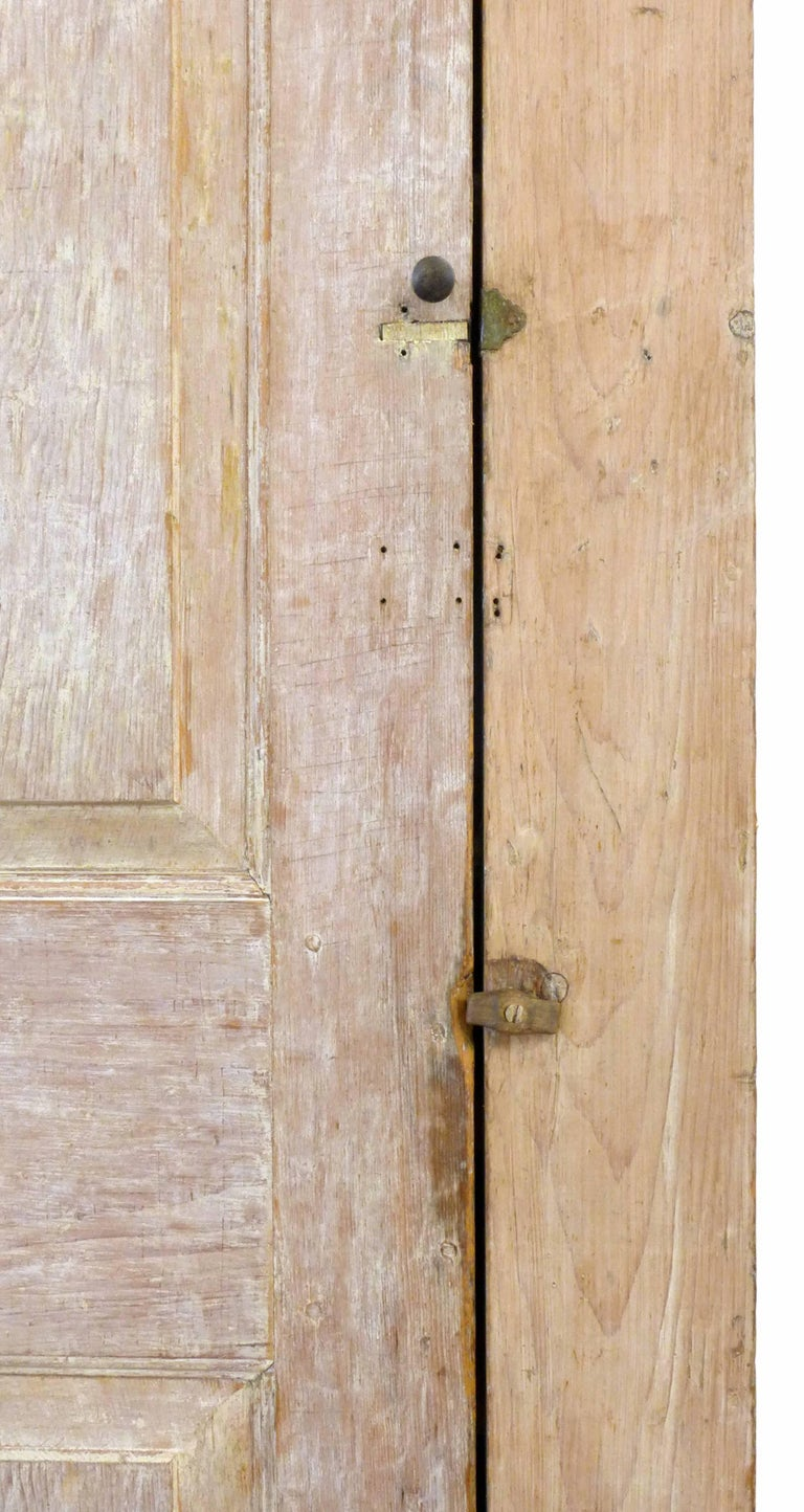 Limed 18th Century Wood Storage Cabinet For Sale
