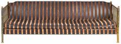 Brass Faux Bamboo Sofa by Mastercraft