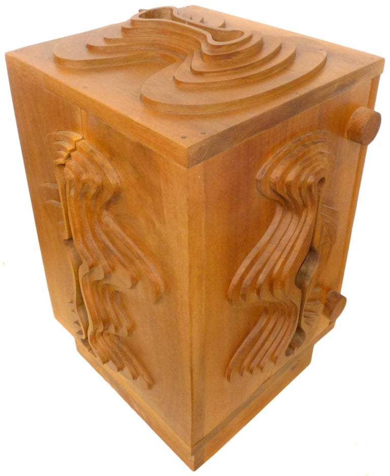 Wood Sculpture Cabinet by John Risley In Good Condition For Sale In Los Angeles, CA