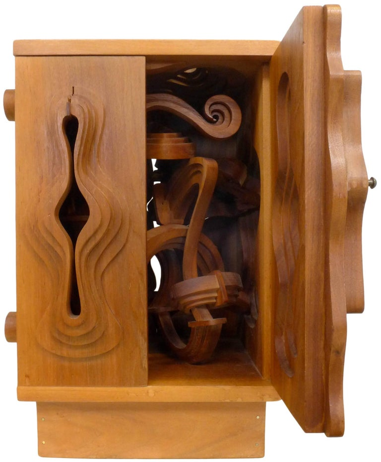 Late 20th Century Wood Sculpture Cabinet by John Risley For Sale