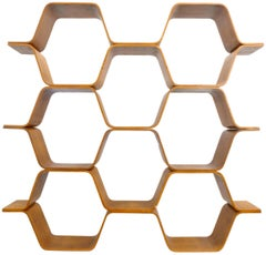 "Bentwood ""Honeycomb"" Shelving Unit or Room Divider"