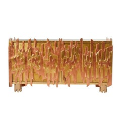 Gold-Leaf Credenza by Pedro Baez, Mexico City