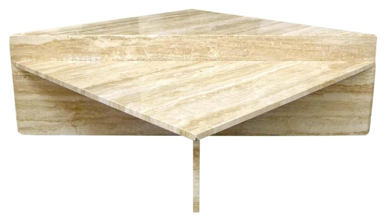 Two-Piece Modular Travertine Coffee Table at 1stdibs