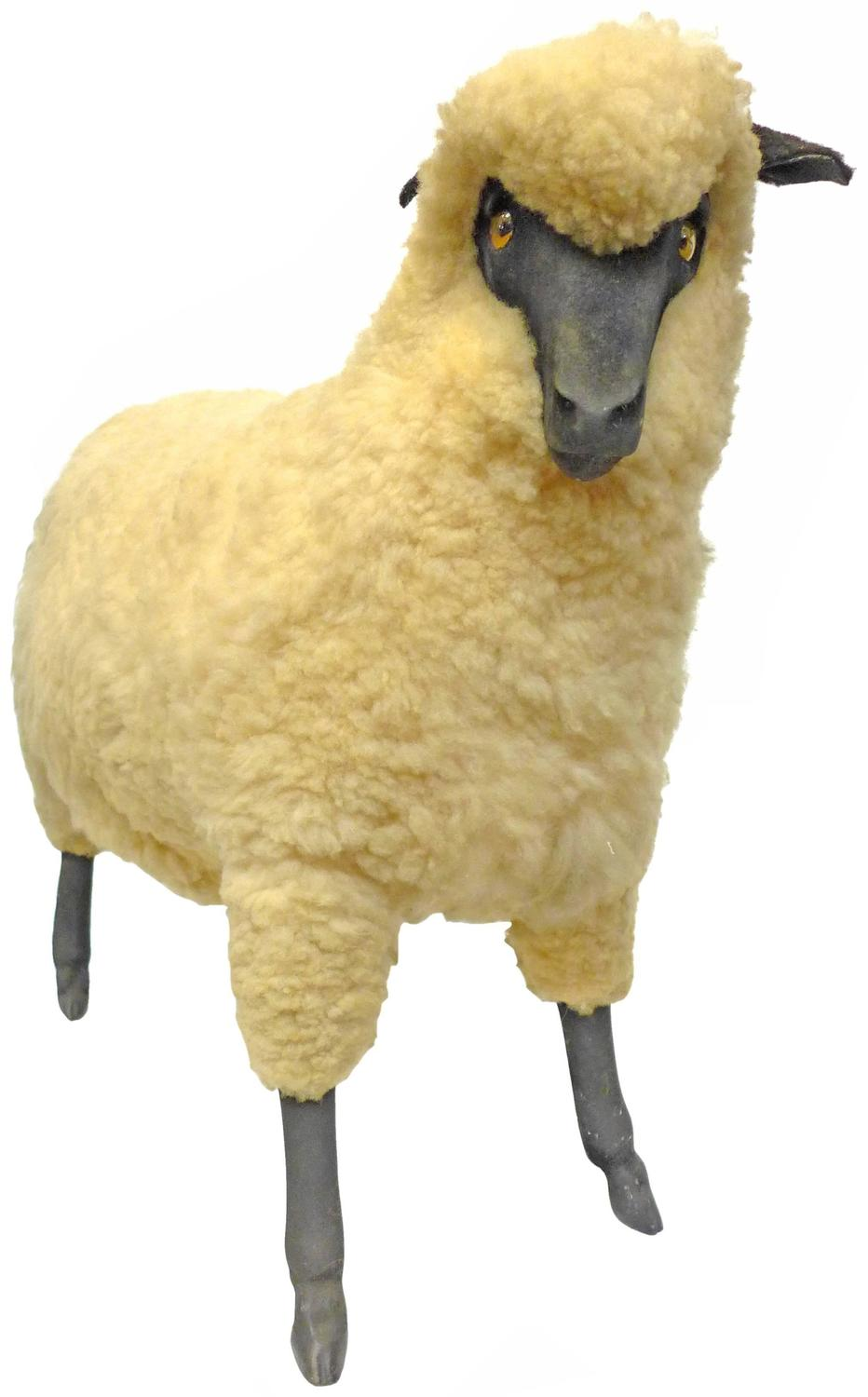 Vintage Wool and Resin Sheep in the Style of Lalanne at ...