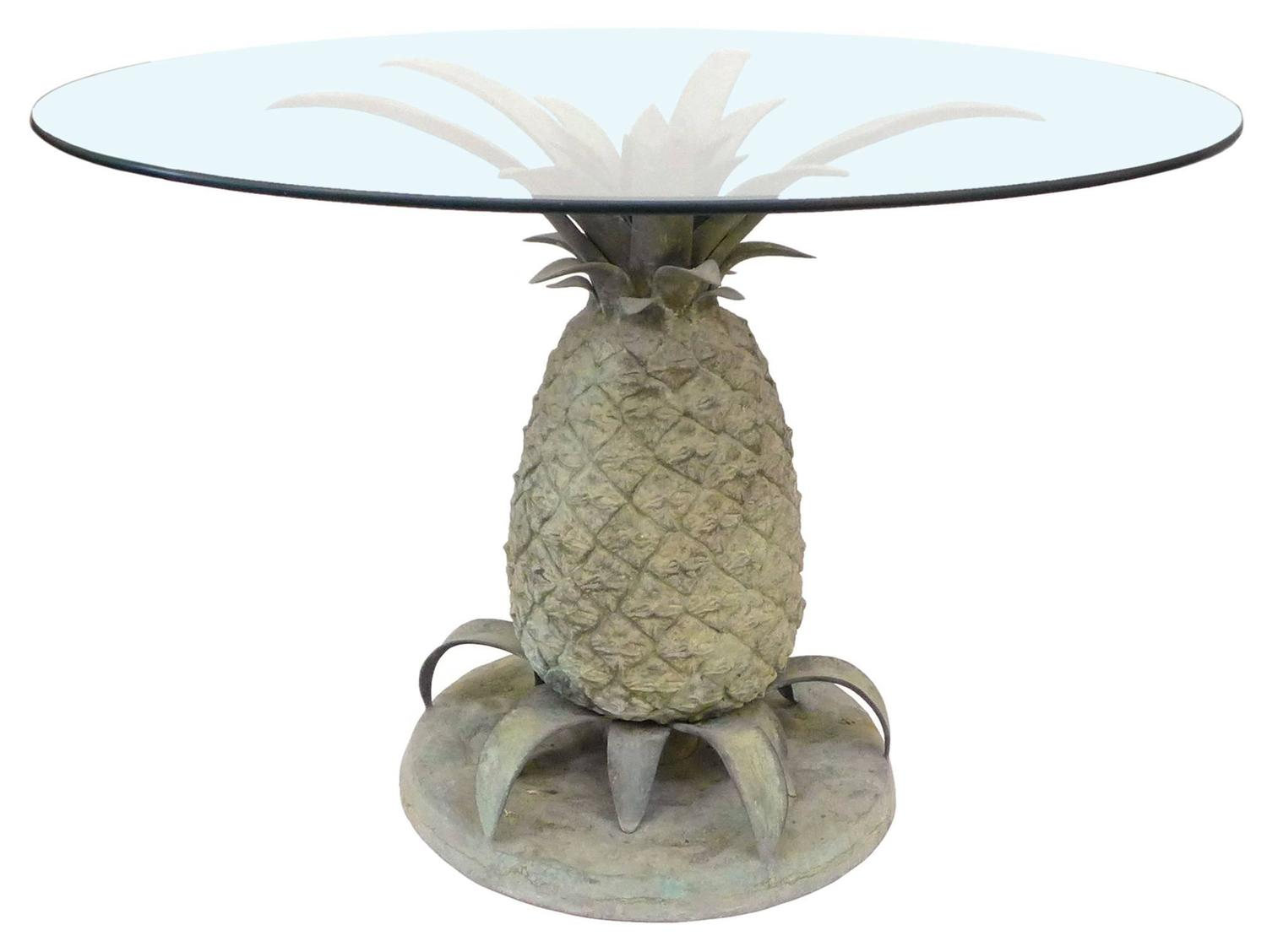 Cast Bronze and Glass quotPineapplequot Table at 1stdibs : P1070804z from www.1stdibs.com size 1500 x 1128 jpeg 68kB