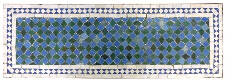 Mosaic Tile and Iron Garden Table 3