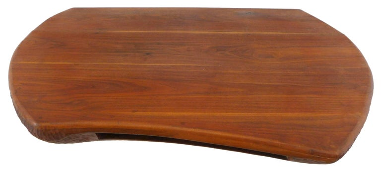 Fantastic Chip-Carved American Craft Wall-Mount Wood Console 5