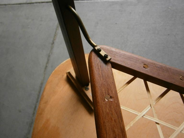 Danish Triangular Three Legged Teak Side Table With Lower
