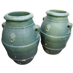 Vintage Gladding McBean Terracotta Oil Jars, circa 1920