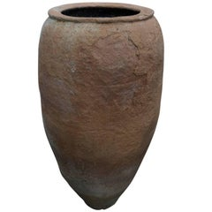 Tall Unglazed Terracotta Oil Jar