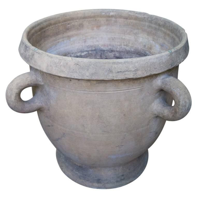 Antique French Terracotta Urn Planters