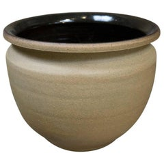 Stoneware Earthgender Tabletop Planter by Robert Maxwell, circa 1970