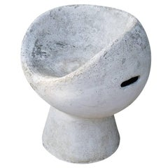 Cement Pod Chair by Willy Guhl, circa 1960