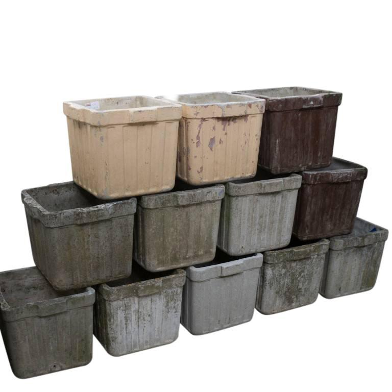 Vintage French Cement Planters, circa 1960 In Good Condition For Sale In Culver City, CA
