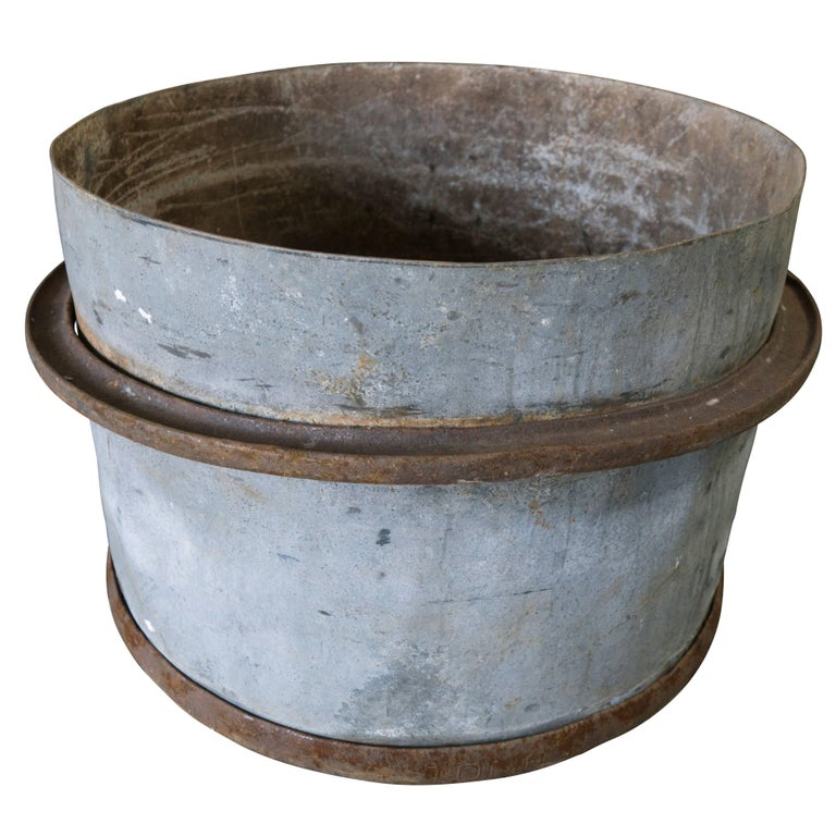 Rustic French Iron Planters, circa 1960 For Sale