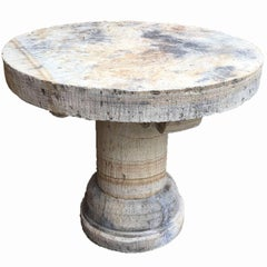 Antique Circular Indonesian Limestone Table, circa 1960