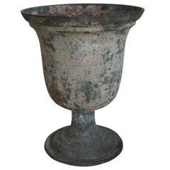 Antique French Cast Iron Urn