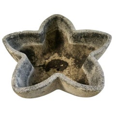 French Midcentury Cement Star Planter