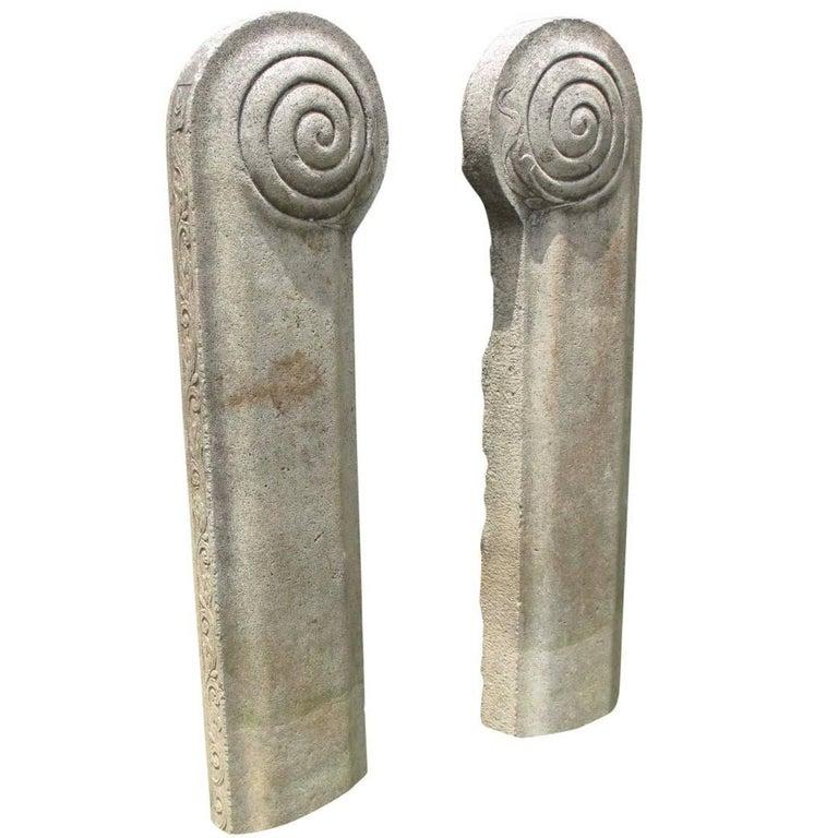 19th Century Stone Temple Adornments