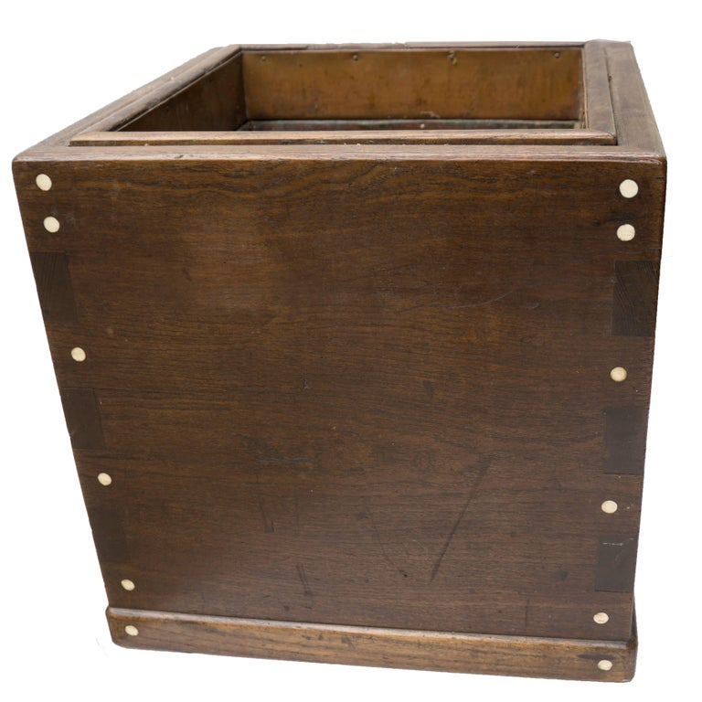 Mid-Century Modern Vintage Japanese Hardwood Hibachi Planter For Sale