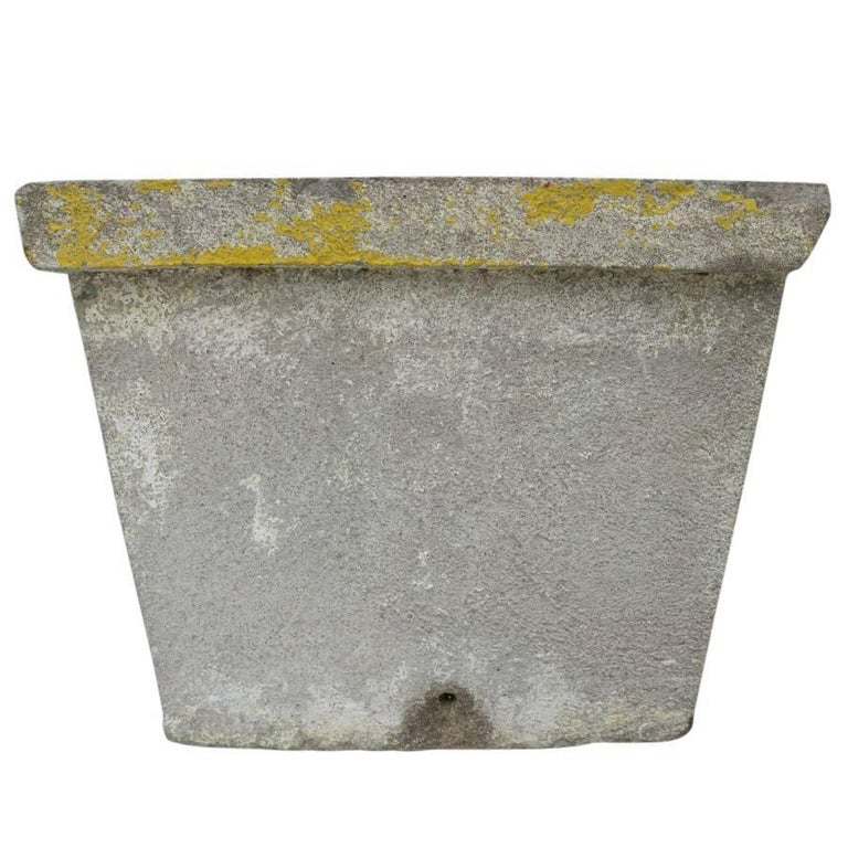 Antique French Cement Planters In Fair Condition For Sale In Culver City, CA
