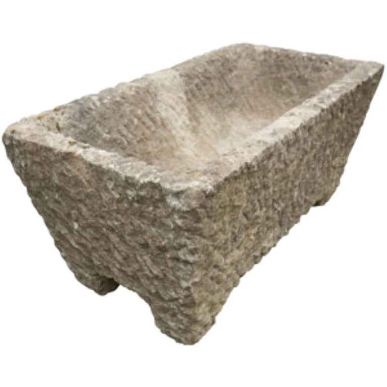 French Carved Stone Planter, circa 1800 In Good Condition For Sale In Culver City, CA