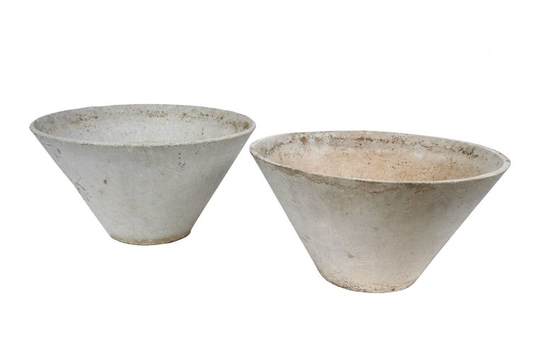 Modern French Conical Fiber Cement Planter, circa 1960 For Sale 4