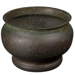 Antique 19th Century Cast Bronze Planter