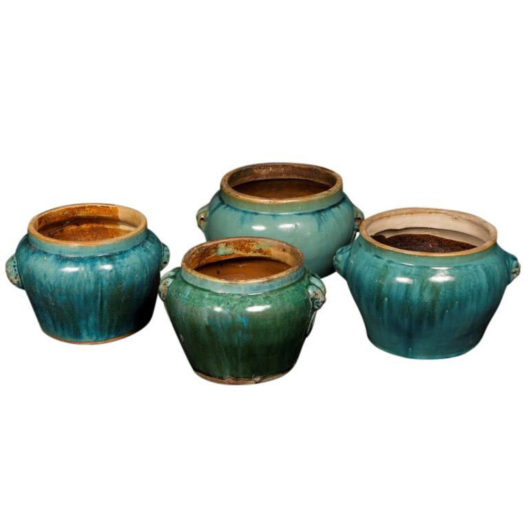 Antique Ceramic Pickle Pots, 19th Century, China In Good Condition For Sale In Culver City, CA