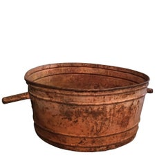 Antique French Copper Tubs, circa 1910