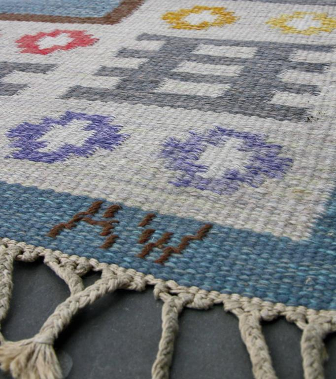 1950s Swedish Rug by AW In Excellent Condition For Sale In London, GB