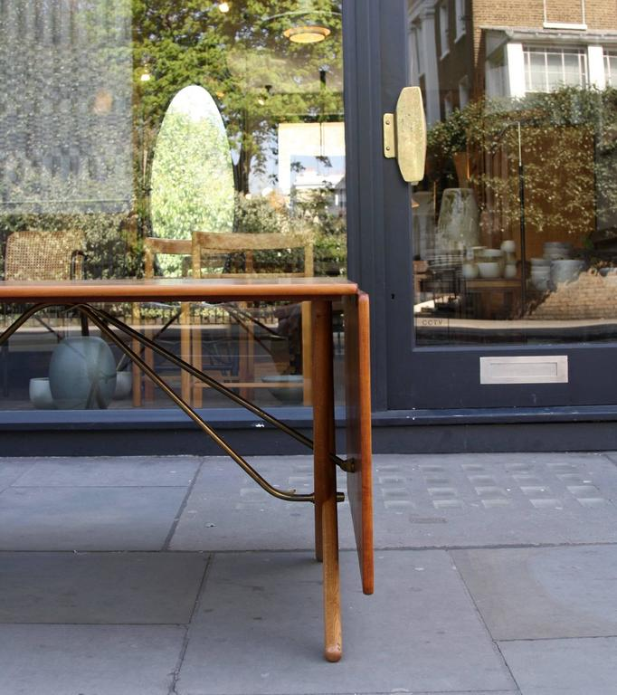 Carved Hans Wegner Model AT-309 Extendable Table For Sale